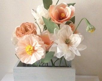 Paper Flower Window Box