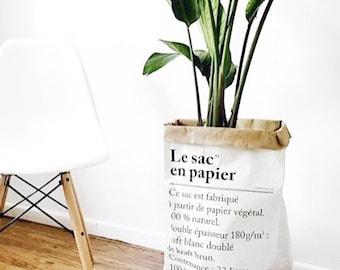 Le sac paper storage bag heavy duty craft paper planter