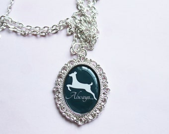 "Harry Potter Severus Snape ""Always"" Doe Patronus Cameo Necklace"