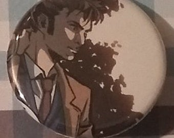 Upcycled Comic Doctor Who Button #2