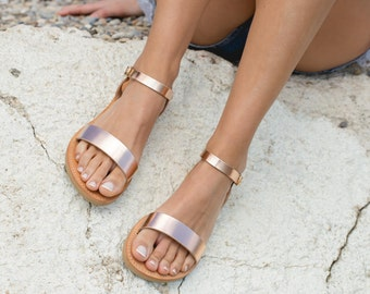 Sandals,Greek sandals,Ankle strap sandals,Leather sandals,Elegant sandals,Flat sandals,Women shoes,Triskelion,APHRODITE