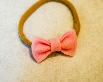 Felt Bow - Light Pink