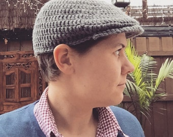 Crocheted Flat Cap
