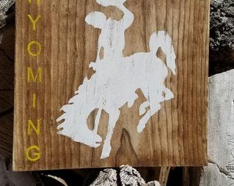 Wyoming Bucking Horse Sign