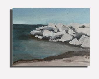 McKinley Beach Plein Air Landscape Oil Painting