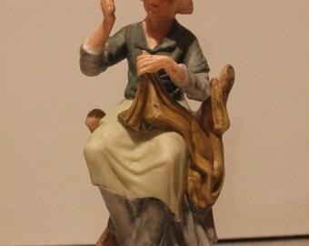 Vintage StarSet Porcelain Figurine Seamstress