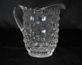 Glass Pitcher Vintage Fostoria- American Pattern