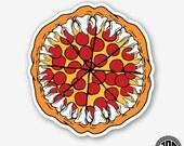 Pizza Shark Mouth - Die Cut Sticker