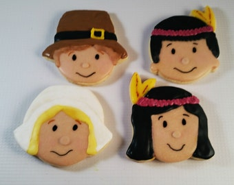 Pilgrim and Indian Cookie Cutters