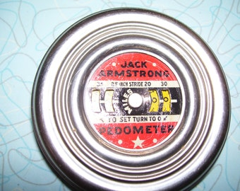 Vintage Jack Armstrong Pedometer.
