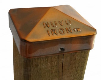 """Eazy Cap 3.5"""" x 3.5"""" (for Posts with Rounded Corners) - Copper Plated"""