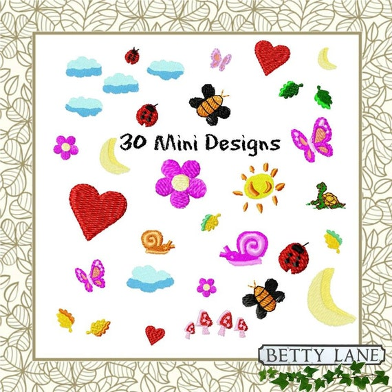 Mini designs collection embroidery design in formats