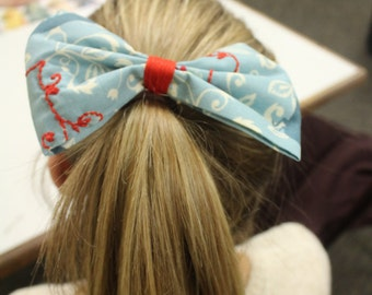 Blue Bird Hair Bow