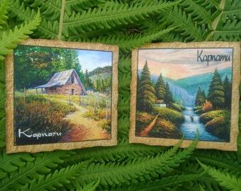 """Wooden Magnet """"Karpaty"""""""