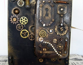 Handmade steampunk interior décor.