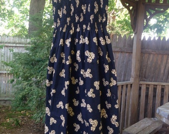 Early 2000's Disney Black And Cheetah Print Sundress Size Large