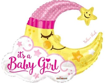 "It's a Baby Girl Balloon- 36"" Large Foil Balloon- Baby Shower Balloon"