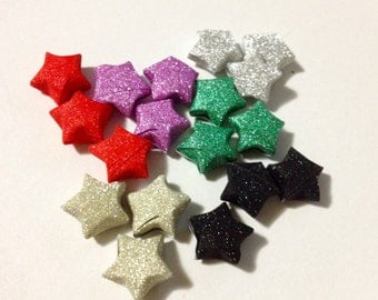 Glitter paper stars!
