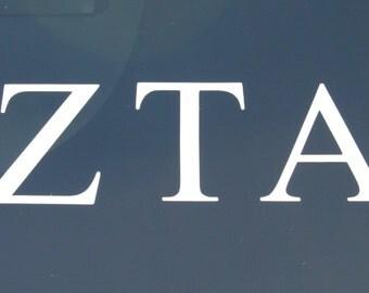 Zeta Tau Alpha Decal