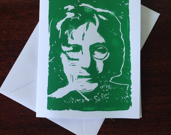 John Lennon Greeting Card