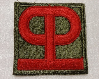 """U.S. WW2 90th """"Tough 'ombres"""" Infantry Division * usp569"""