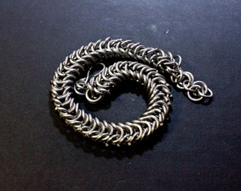 Box Weave Stainless Steel Chainmail Bracelet
