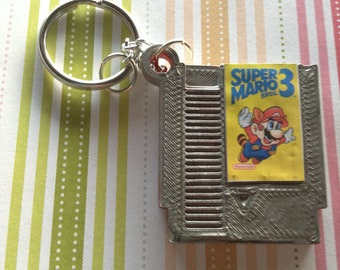 Super Mario Bros. 3 NES Cratridge Keychain