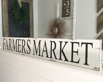 Large Farmers Market Sign