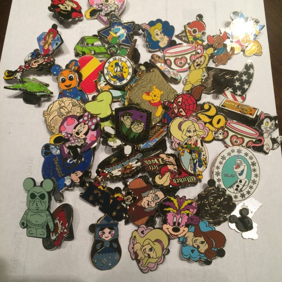 75 DISNEY TRADING PIN Lot Great for Scrapbooks and Pin Trading at Disney World, Trading with Cast Members