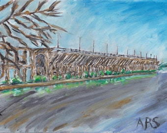 Art Print of Oil painting - Ashland, WI Oredock
