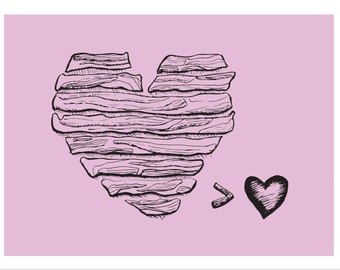 Bacon Lover Illustration Postcard