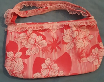 Pink Hawaiian Style Luau Bag