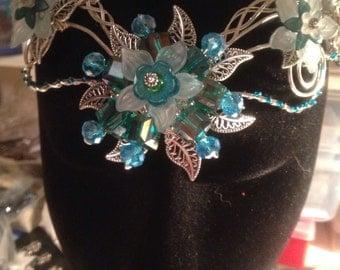 Elvin Vintage Flower Tiara