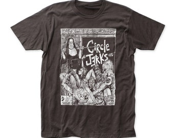 Circle Jerks - Mens Bad Religion Soft Fitted 30/1 T-Shirt - CJ03(Charcoal)