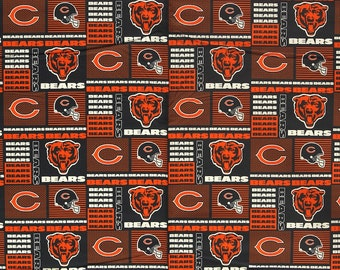 NFL Chicago Bears 100%Cotton V1 Fabric by the yard