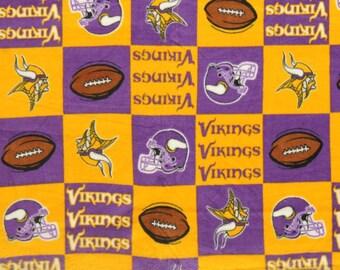 NFL Minnesota Vikings Fleece V3 Fabric by the yard