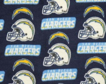 NFL San Diego Chargers Fleece Fabric by the yard