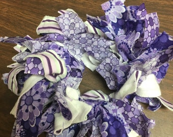 Fabric Hair Ties ~ Grape Juice