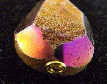 Purple Druzy Quartz Pendant Necklace