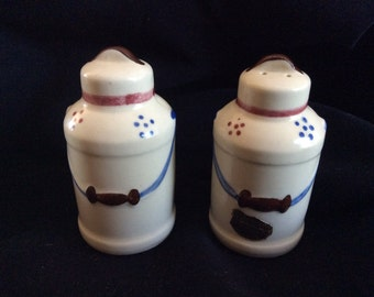 Vintage Shawnee Milk Pail salt pepper set.