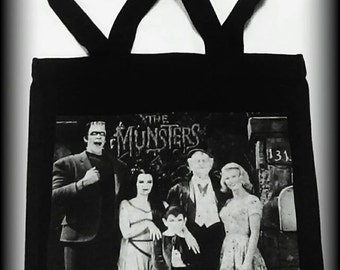The Munsters tote bag, Lily Munster purse, Gothic purse, horror bag, horror tote, horror clothing