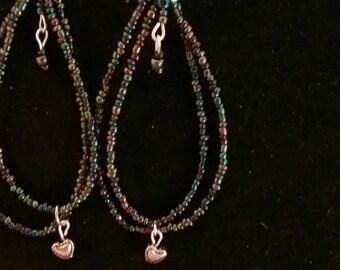 Dangled hoop earrings