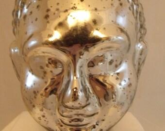 CLEARANCE - Silver Hindu Goddess Head Made in India Bust  (163)