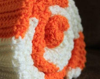 UT Orange & White Crocheted Blanket