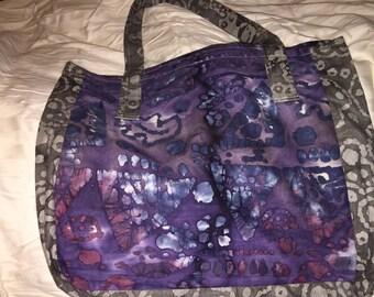 Purple Batik Tote Bag