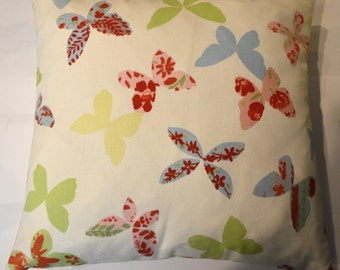 Cute Butterfly Cushion, children's cushion, multi coloured butterflies