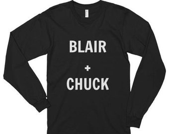Blair and chuck long sleeve t-shirt, unisex graphic t-shirt, fashion
