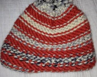 Handmade yarn beanie
