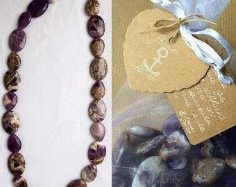 Gemstone Amethyst necklace multicolor