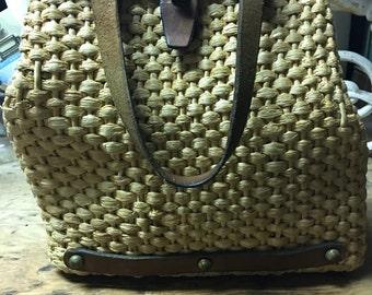 Vintage Straw Handmade Handbag